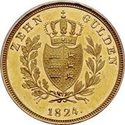 10 Gulden - Wilhelm I. – reverse