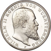 3 Mark - Wilhelm II. – obverse