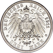 3 Mark - Wilhelm II. -  reverse