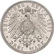 3 Mark - Wilhelm II. – reverse