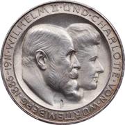 3 Mark - Wilhelm II. (Wedding Anniversary) – obverse
