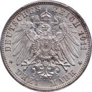 3 Mark - Wilhelm II. (Wedding Anniversary) – reverse