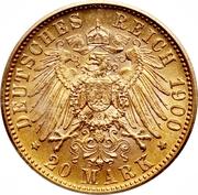 20 Mark - Wilhelm II. -  reverse