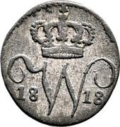 ½ Kreuzer - Wilhelm I. – obverse