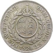 2 Gulden - Wilhelm I. -  reverse