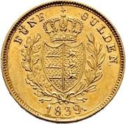 5 Gulden - Wilhelm I. – reverse