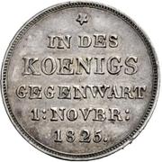 10 Gulden - Wilhelm I. (Silver pattern strike; Mint visit) – reverse