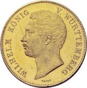 2 Thaler / 3½ Gulden - Wilhelm I. (Gold pattern strike; Marriage) – obverse