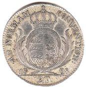 20 Kreuzer - Friedrich I. -  reverse