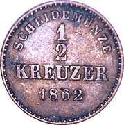 ½ Kreuzer - Wilhelm I. – reverse