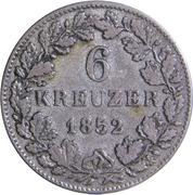 6 Kreuzer - Wilhelm I. – reverse