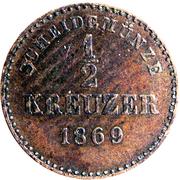 ½ Kreuzer - Karl I. – reverse