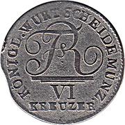6 Kreuzer - Friedrich I. – obverse