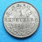 1 Kreuzer - Wilhelm I. -  reverse