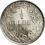 ½ Gulden - Wilhelm I. – reverse