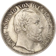 ½ Gulden - Karl I. – obverse