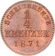 ¼ Kreuzer - Karl I. – reverse