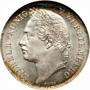 1 Gulden - Wilhelm I. (Silver Jubilee) – obverse