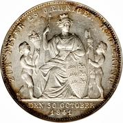 1 Gulden - Wilhelm I. (Silver Jubilee) – reverse