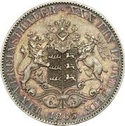 1 Vereinthaler - Karl I. – reverse