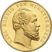 2 Thaler / 3½ Gulden - Karl I. (Gold pattern strike; Ulm Cathedral) – obverse