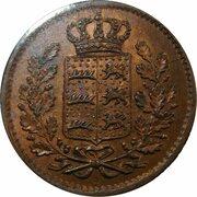 ¼ Kreuzer - Wilhelm I. – obverse