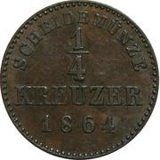 ¼ Kreuzer - Wilhelm I. – reverse