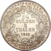 2 Thaler / 3½ Gulden - Wilhelm I. – reverse