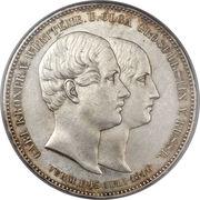 2 Thaler / 3½ Gulden - Wilhelm I. (Marriage) – reverse