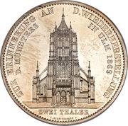 2 Thaler / 3½ Gulden - Karl I. (Ulm Cathedral) – reverse