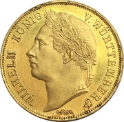 4 Ducats - Wilhelm I. (25th anniversary of reign) – obverse