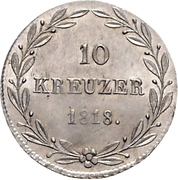 10 Kreuzer - Wilhelm I. – reverse