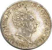 12 Kreuzer - Wilhelm I. – obverse