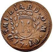 ½ Liard - Leopold Eberhard – reverse