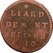 1 Liard - Leopold Eberhard – reverse
