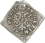 2 Kreuzer - Friedrich I. (Klippe) – reverse