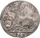 1 Gulden - Julius Friedrich (Kipper; Hirschgulden) – reverse