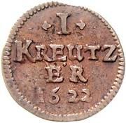1 Kreuzer - Johann Gottfried von Aschhausen – reverse