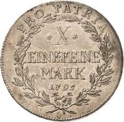 1 Thaler - Franz Ludwig von Erthal (Kontributionstaler) – reverse