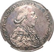 1 Thaler - Georg Karl – obverse