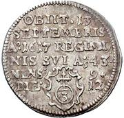 3 Kreuzer - Julius Echter von Mespelbrunn (Death) – reverse