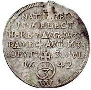 1 Groschen - Franz von Hatzfeld (Death; Sterbegroschen) – reverse