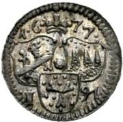 1 Pfennig - Peter Philipp von Dernbach – obverse