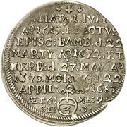 3 Kreuzer - Peter Philipp von Dernbach (Death) – reverse