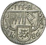 3 Heller - Johann Gottfried II. von Guttenberg – obverse