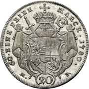 20 Kreuzer - Franz Ludwig von Erthal – reverse