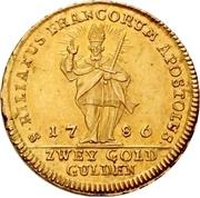 2 Goldgulden - Franz Ludwig von Erthal – reverse