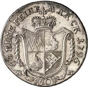 20 Kreuzer - Georg Karl von Fechenbach (Konventionskreuzer) – reverse