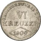 6 Kreuzer - Ferdinand von Österreich – reverse