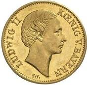 1 Goldgulden - Ludwig II. (Neujahrsgoldgulden) – obverse